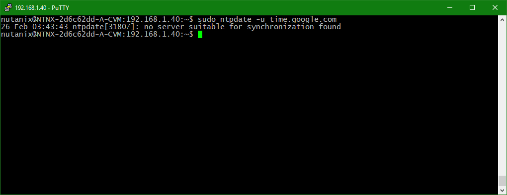 Configure Nutanix Time Server using command line » domalab