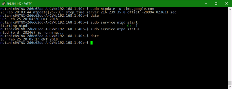 domalab.com Configure Nutanix Time Server restart service