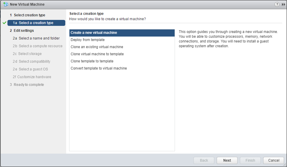 domalab.com Deploy Nutanix nested VMware new Virtual machine