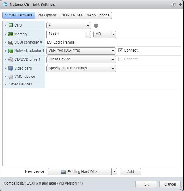 domalab.com Deploy Nutanix nested VMware configure disk