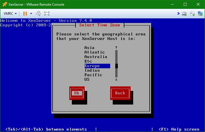 domalab.com install XenServer Time zone