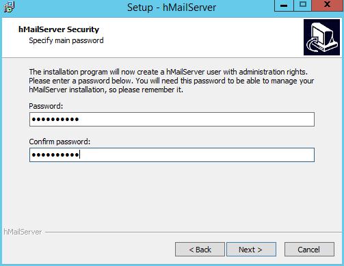 domalab.com install hMailServer administrator password