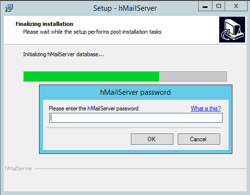 domalab.com install hMailServer finalizing install