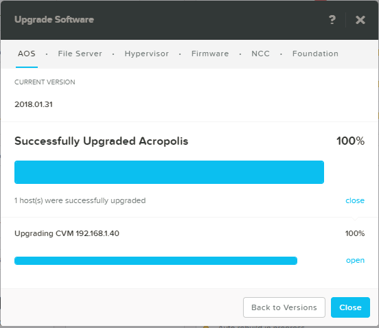 domalab.com Upgrade Nutanix upgrade summary