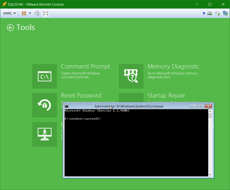 domalab.com Veeam Recovery Media command prompt