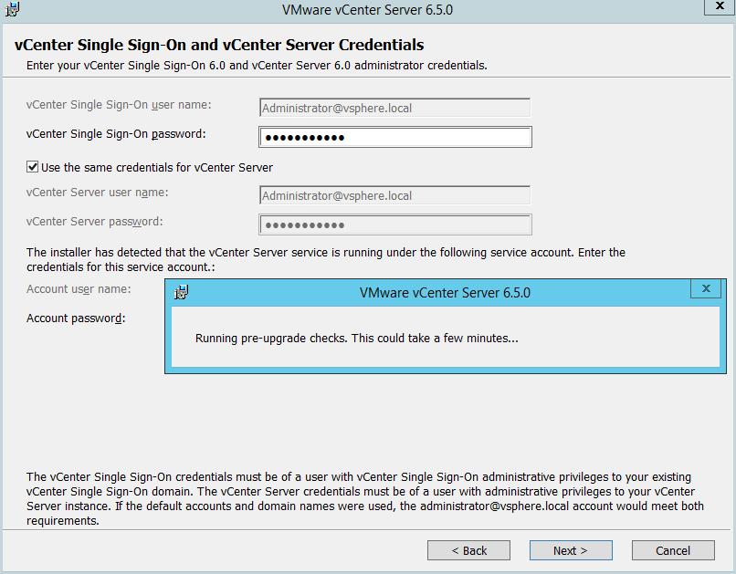 Domalab.com vCenter Upgrade check
