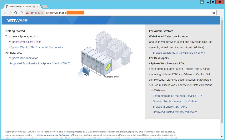 Domalab.com vCenter Upgrade main page