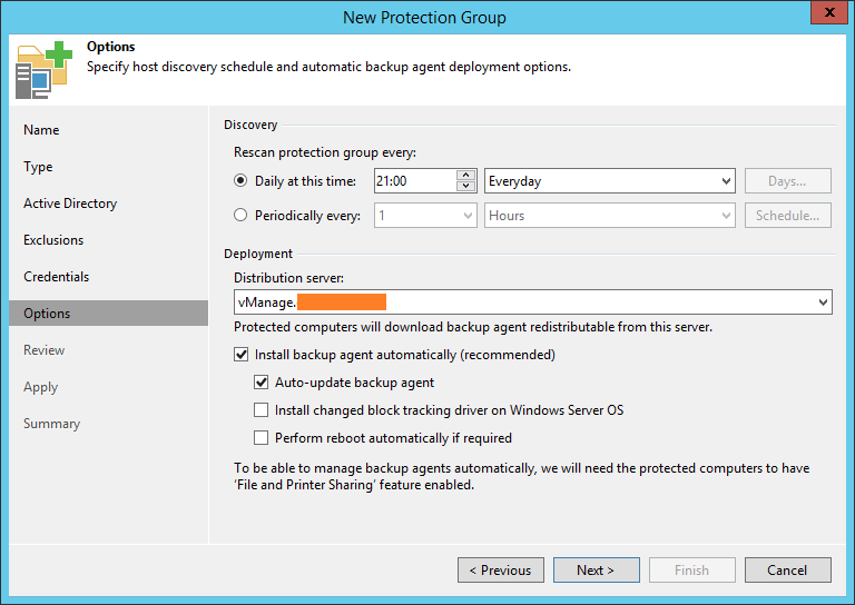 domalab.com Backup SQL cluster protection goup discovery
