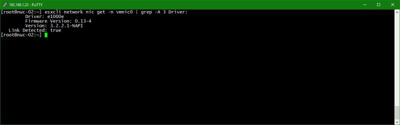 domalab.com Upgrade vSphere 6.5 nic drivers details