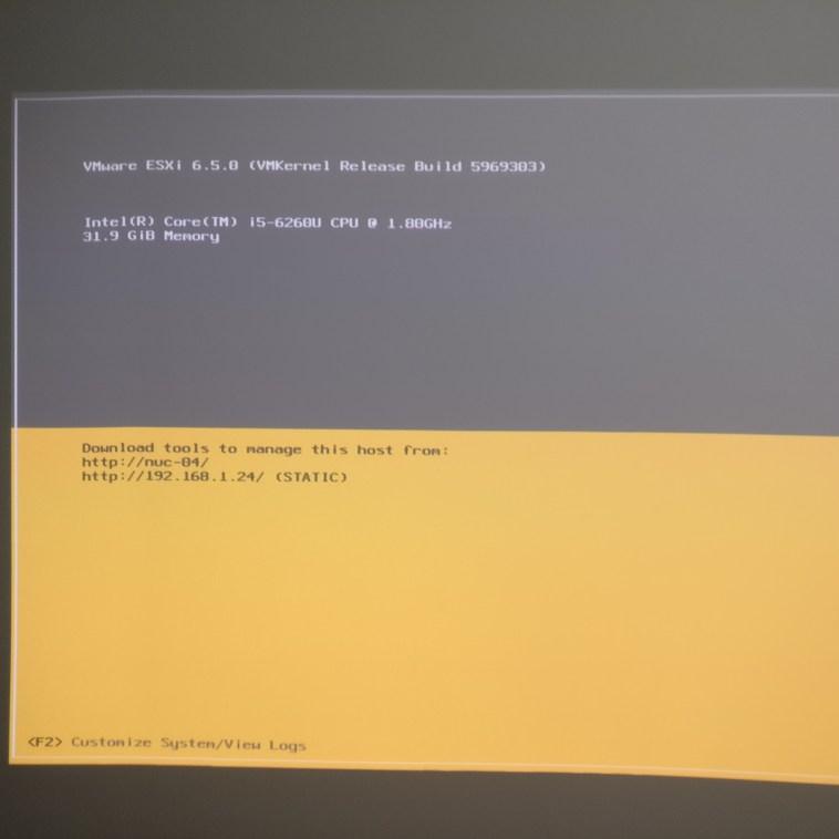 domalab.com Upgrade vSphere 6.5 reboot