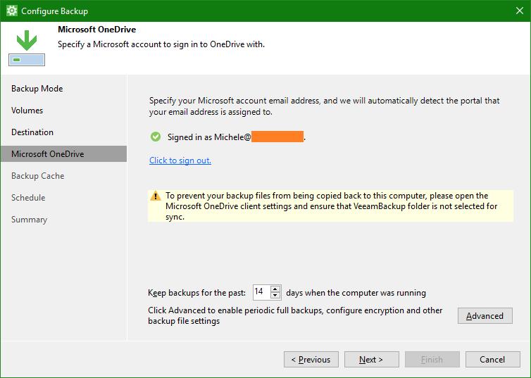 domalab.com OneDrive Windows Backup folder