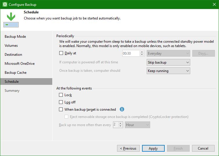 domalab.com OneDrive Windows Backup schedule