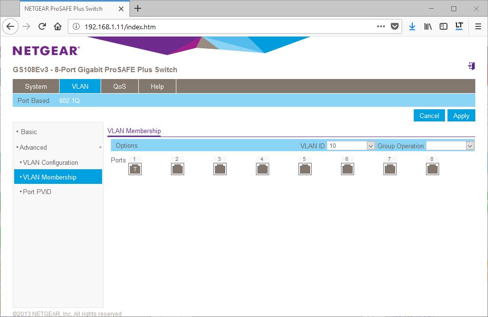 Configure Netgear Vlan for VMware Virtual Switch Tagging » domalab