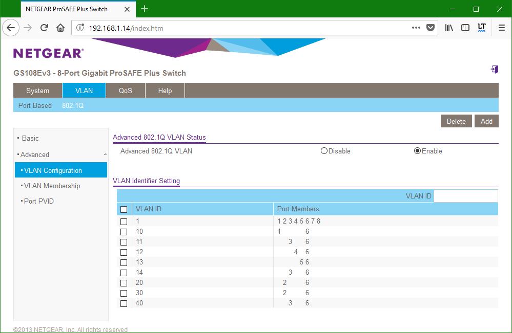 domalab.com netgear Vlan switch 4 configuration