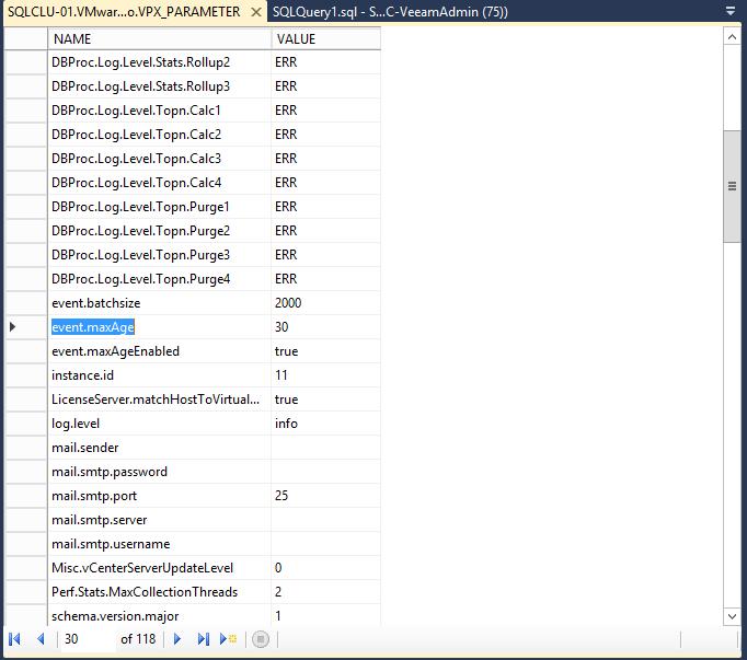 domalab.com shrink vCenter database event.maxAge