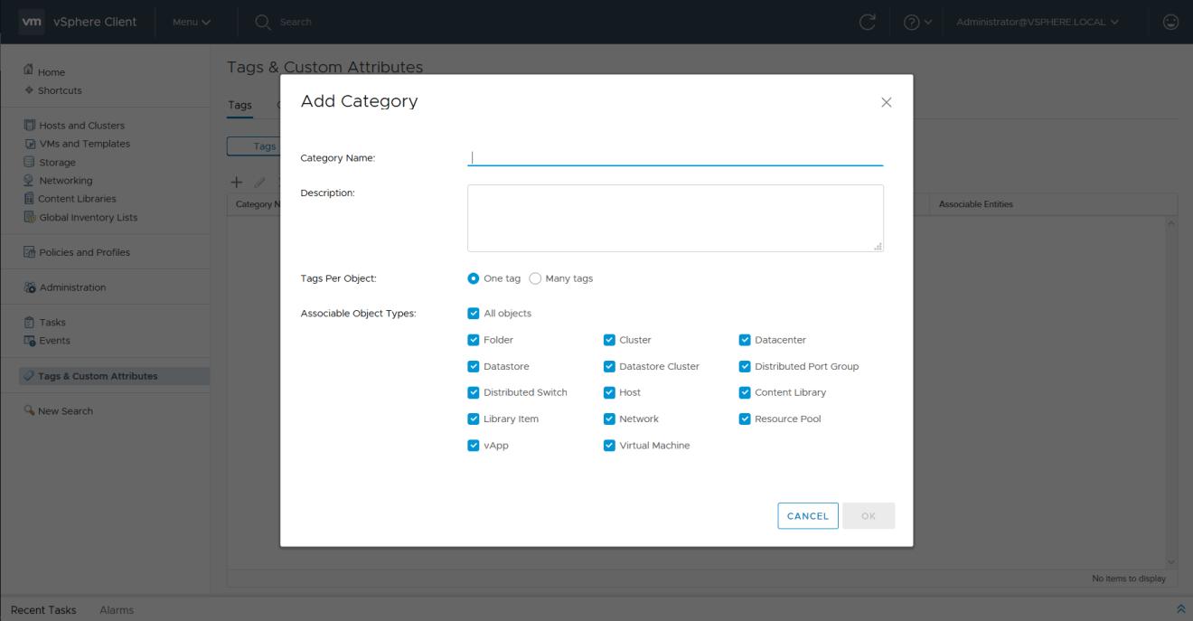 domalab.com VMware vSphere Tags add category