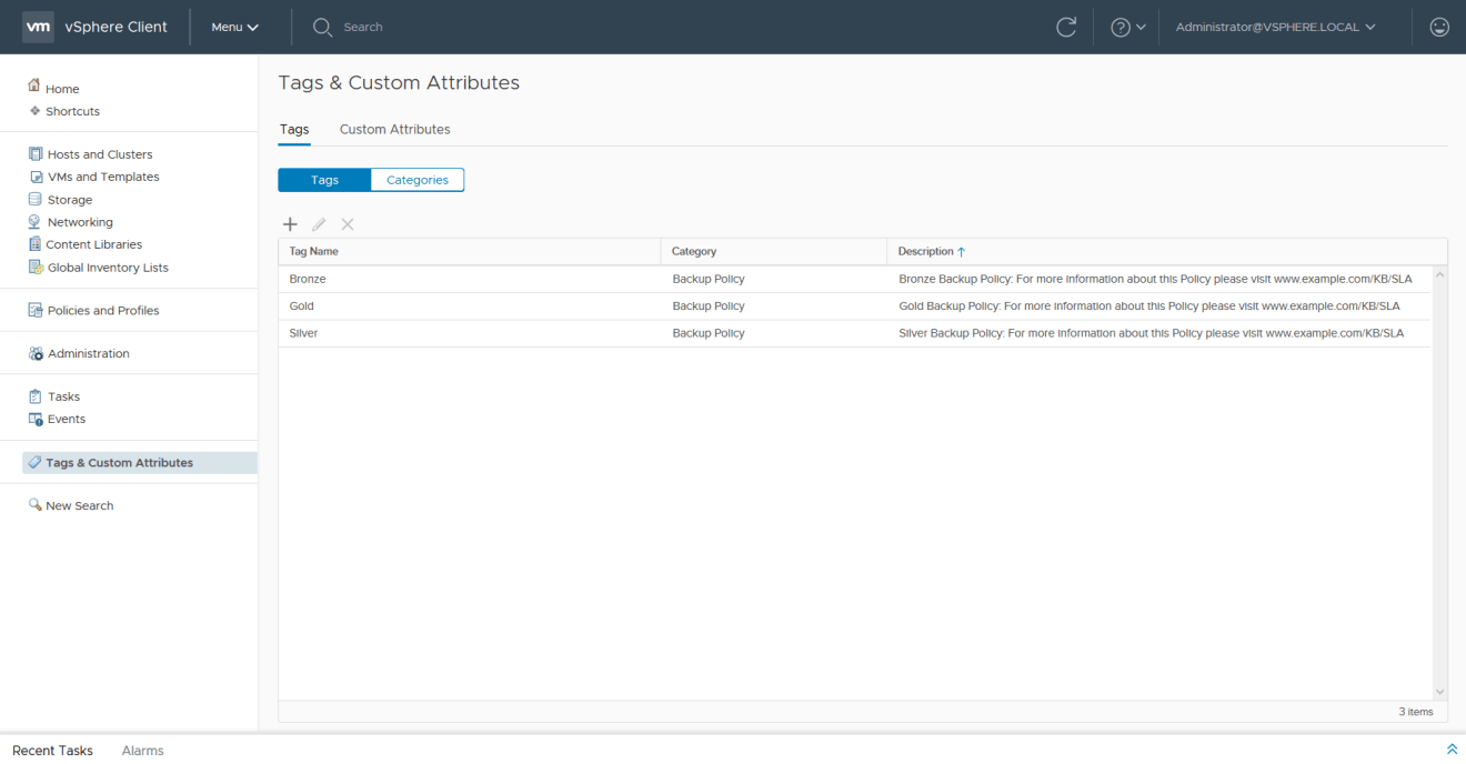 domalab.com VMware vSphere Tags backup policy