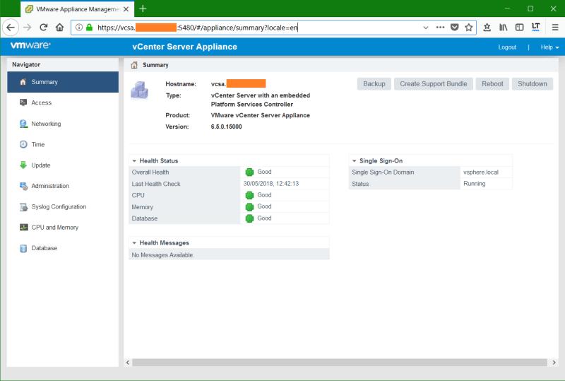 domalab.com VMware VCSA Backup