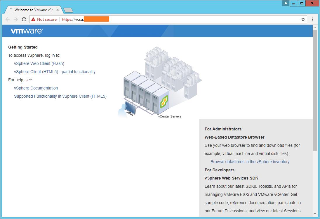 domalab.com VCSA install web clients