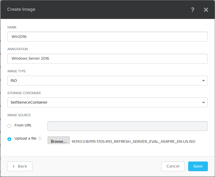 domalab.com Nutanix Image Configuration create