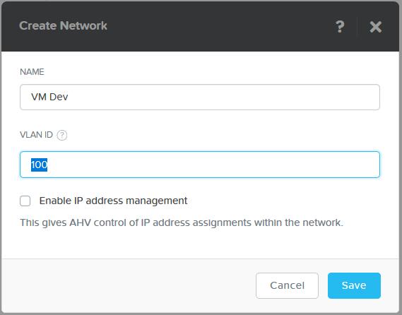 domalab.com Nutanix VM Network VLAN
