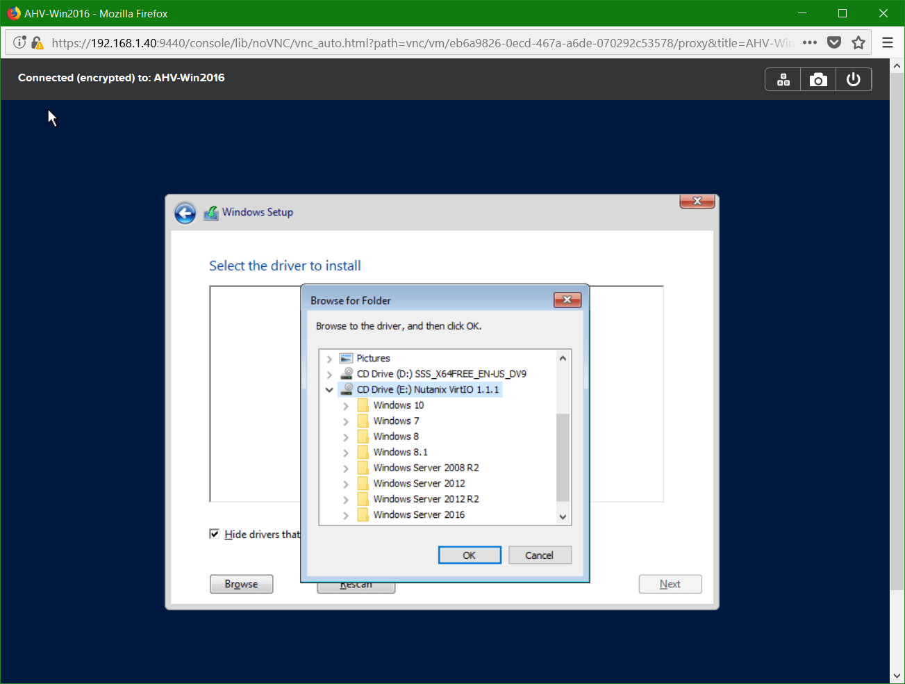 domalab.com Nutanix Windows AHV guest disk driver browse