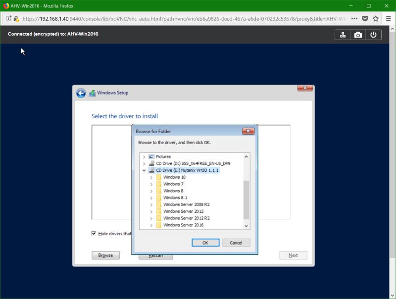 domalab.com Nutanix Windows AHV guest disk driver browse