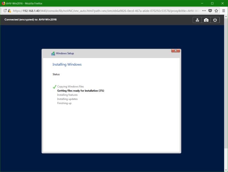 domalab.com Nutanix Windows AHV installing