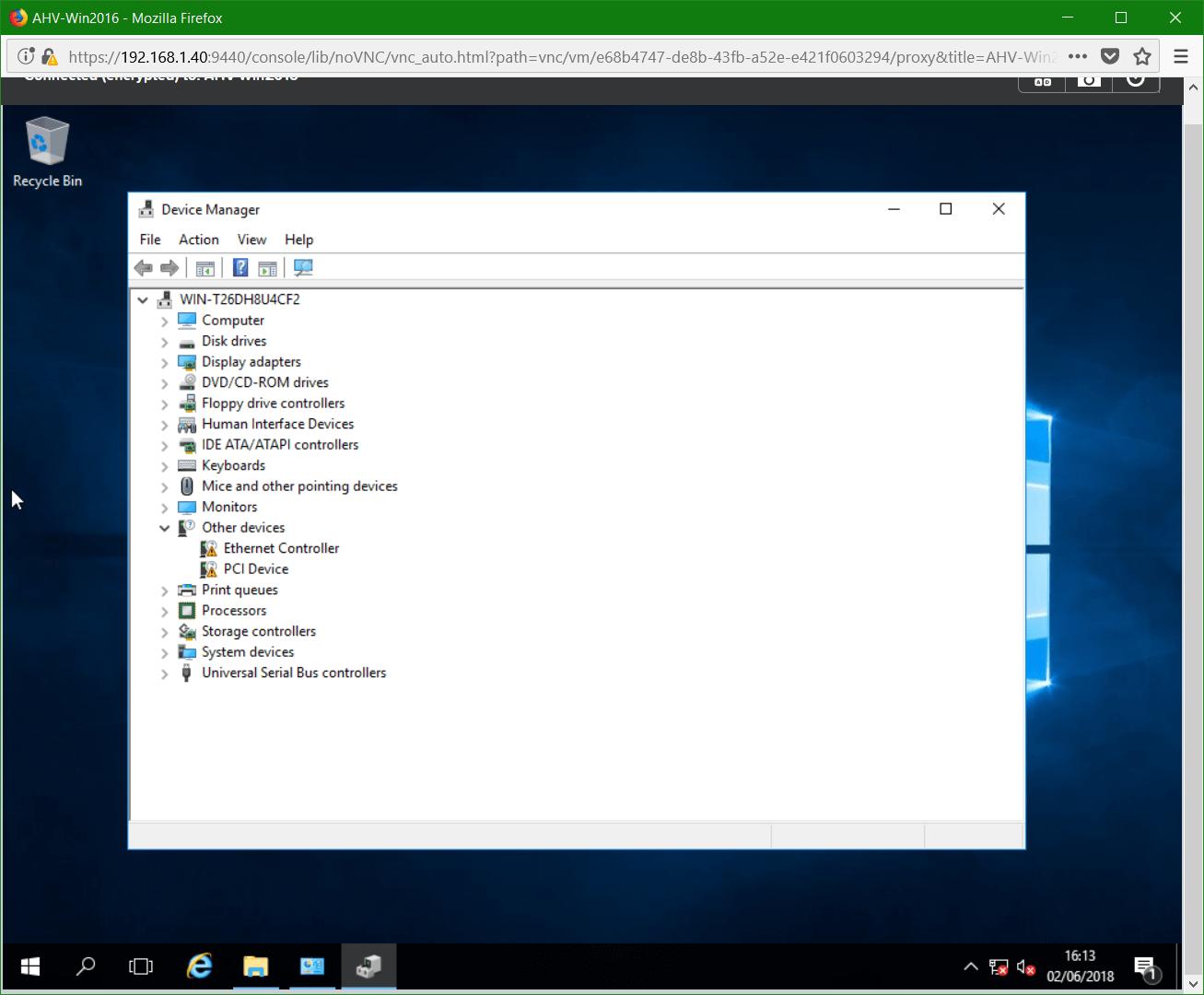 domalab.com Nutanix Windows AHV guest unknown devices