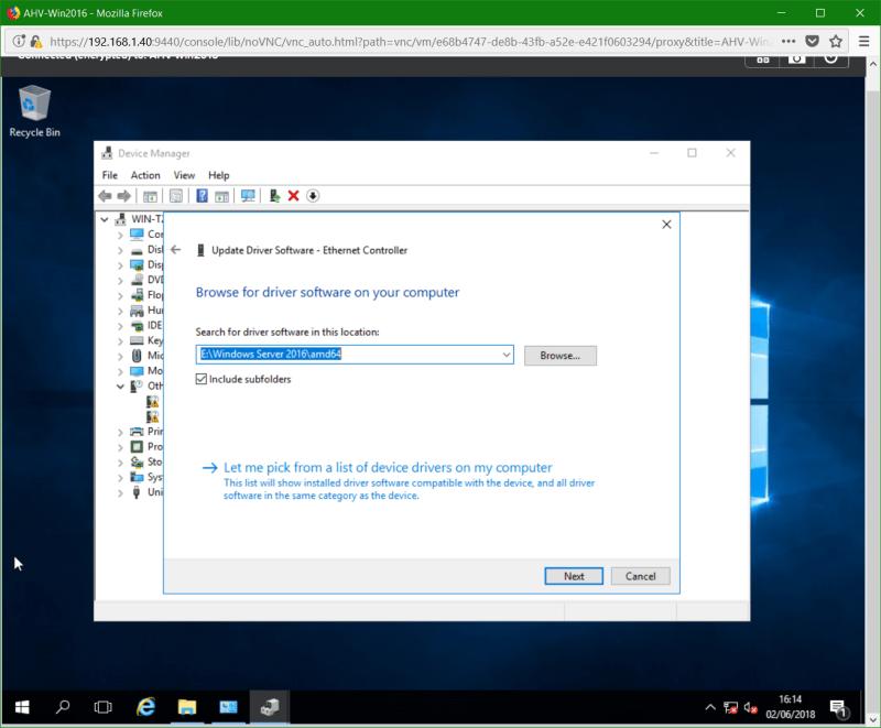 domalab.com Nutanix Windows AHV guest network driver