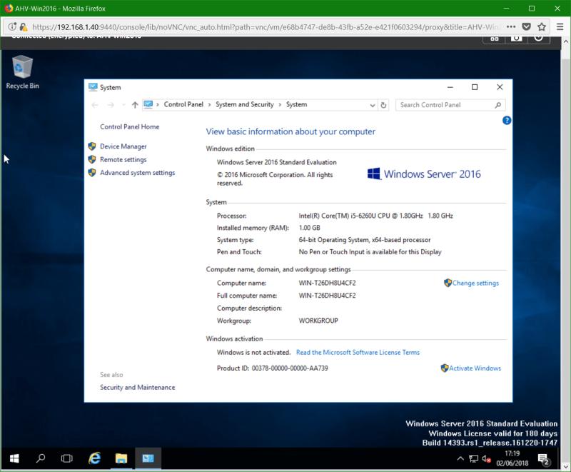 domalab.com Nutanix Windows AHV network installed