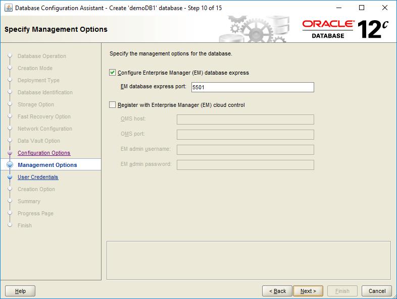domalab.com create oracle database management options