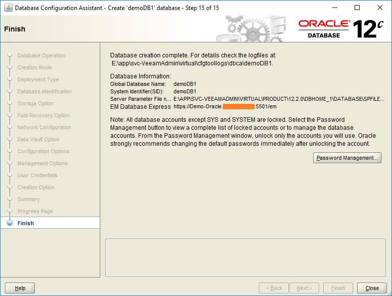 domalab.com create oracle database complete
