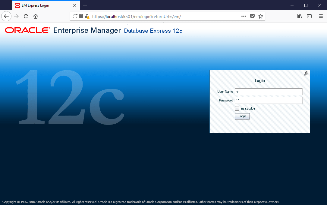 domalab.com create oracle database Enterprise manger login