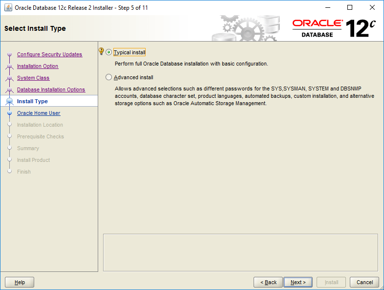 domalab.com Install Oracle install type