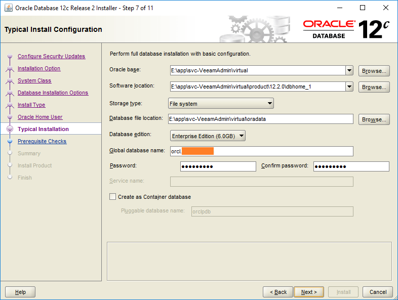 domalab.com Install Oracle typical installation