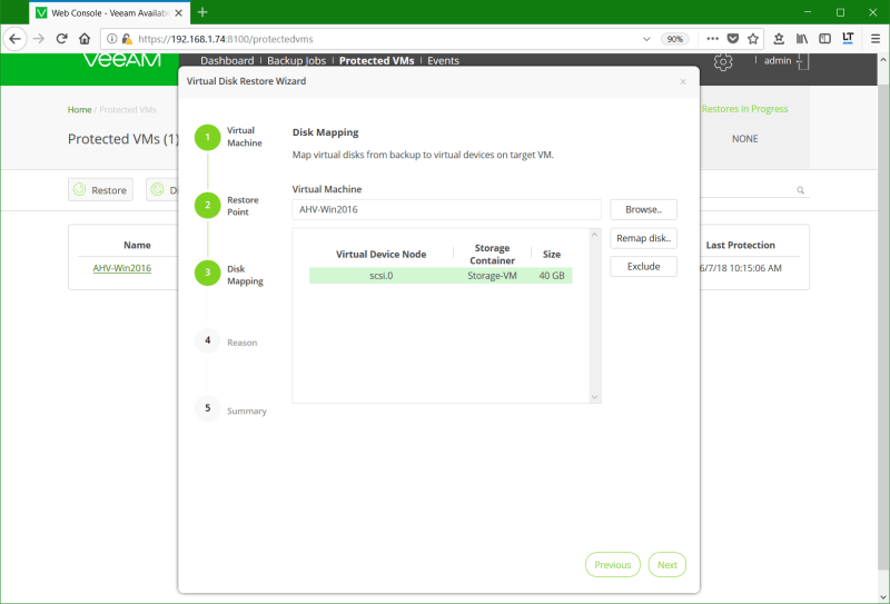 domalab.com Restore Nutanix AHV disk mapping