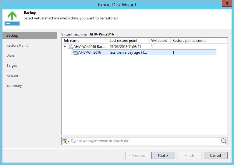 domalab.com Restore Nutanix AHV point in time restore