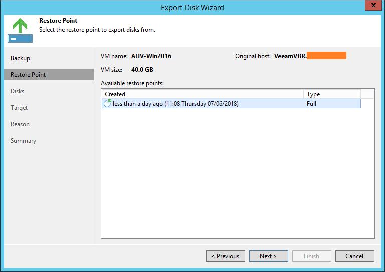domalab.com Restore Nutanix AHV export Disk