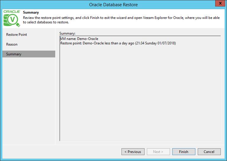 domalab.com Restore Oracle summary