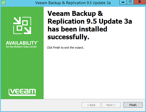 domalab.com Veeam Backup upgrade success