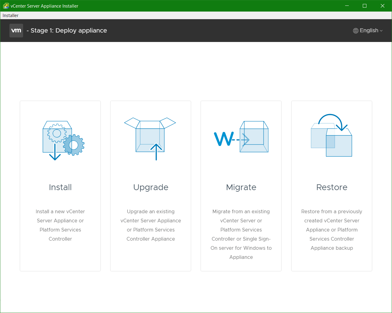 domalab.com VCSA upgrade stage 1 deploy appliance