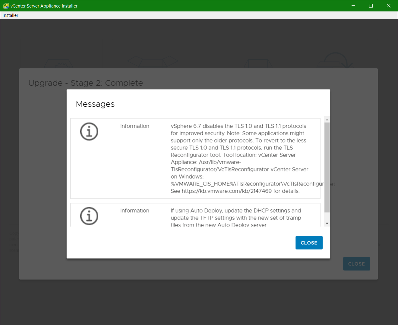 domalab.com vmware vcsa upgrade stage 2 messages