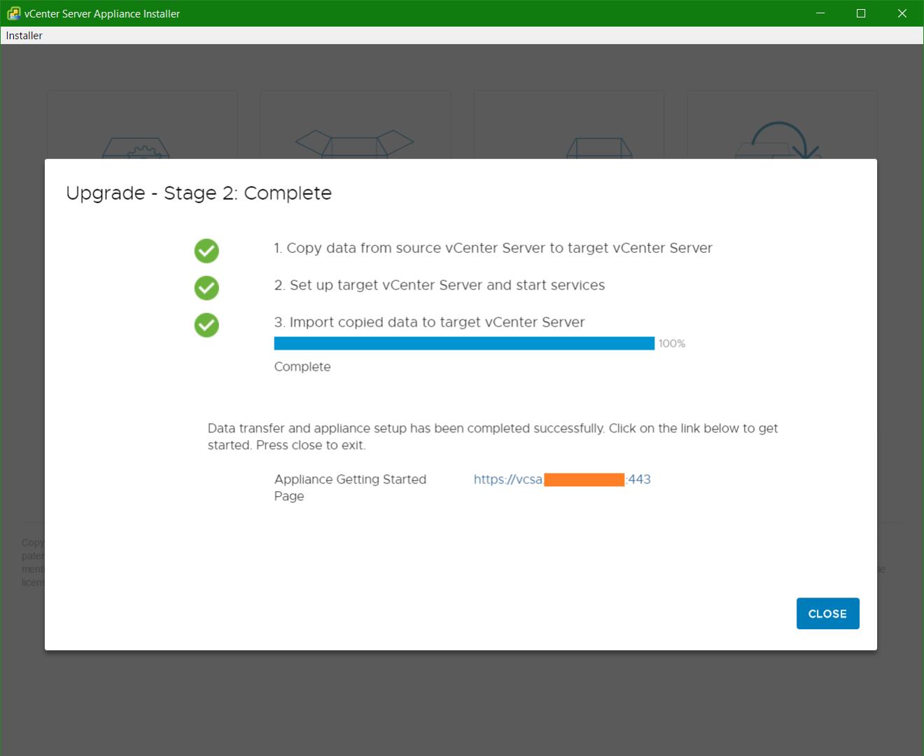 domalab.com vmware vcsa upgrade stage 2 import data
