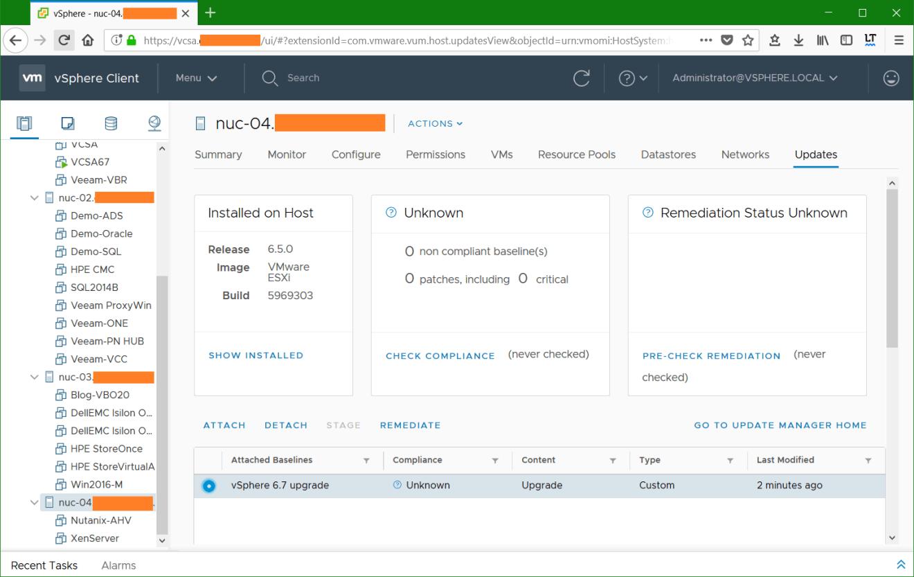 domalab.com VMware vSphere host custom baseline list