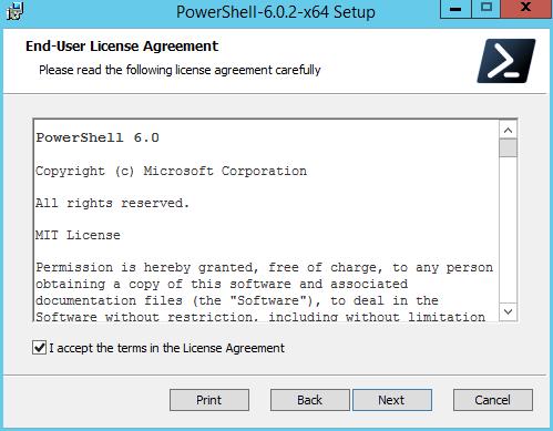 domalab.com Install PowerShell Core eula