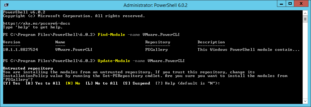 domalab.com Install VMware PowerCLI Update-Module