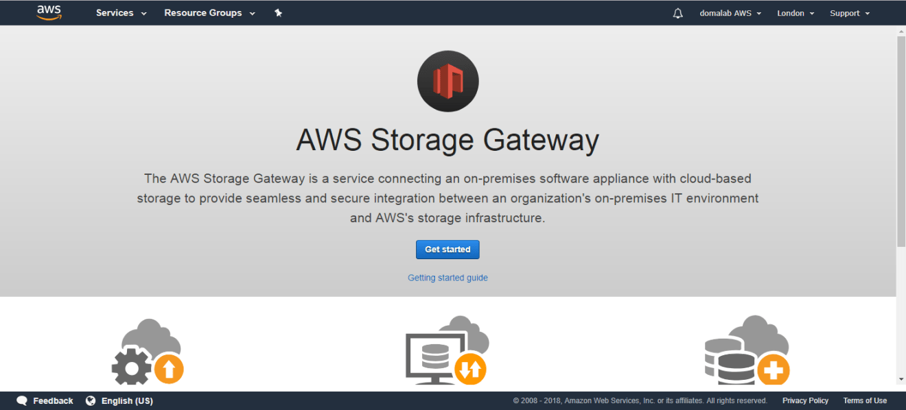 domalab.com AWS Storage Gateway get started