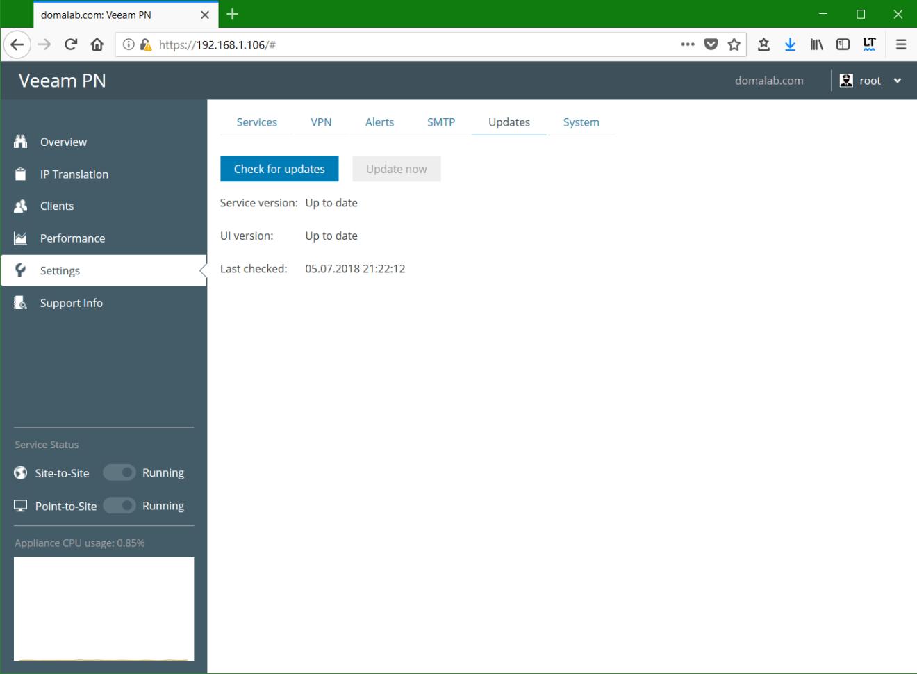 domalab.com Veeam PN updates