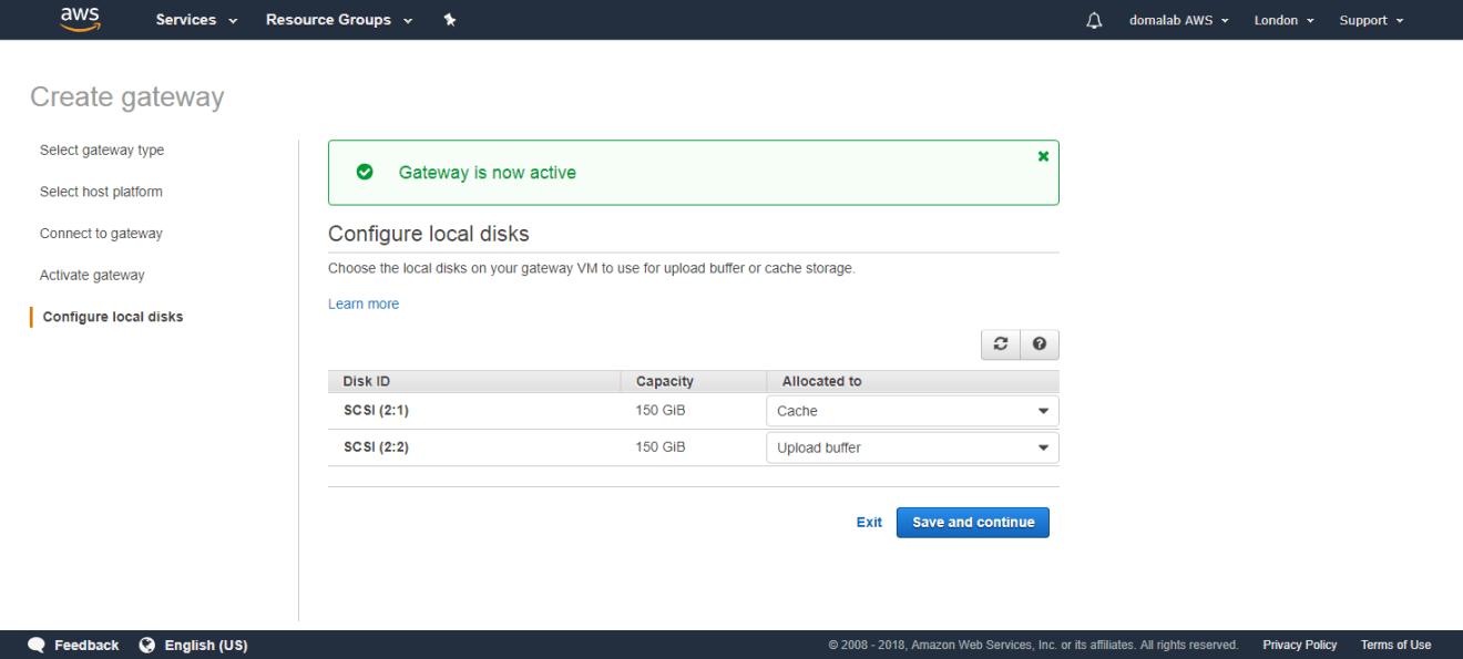 domalab.com AWS Storage Gateway tape local disk